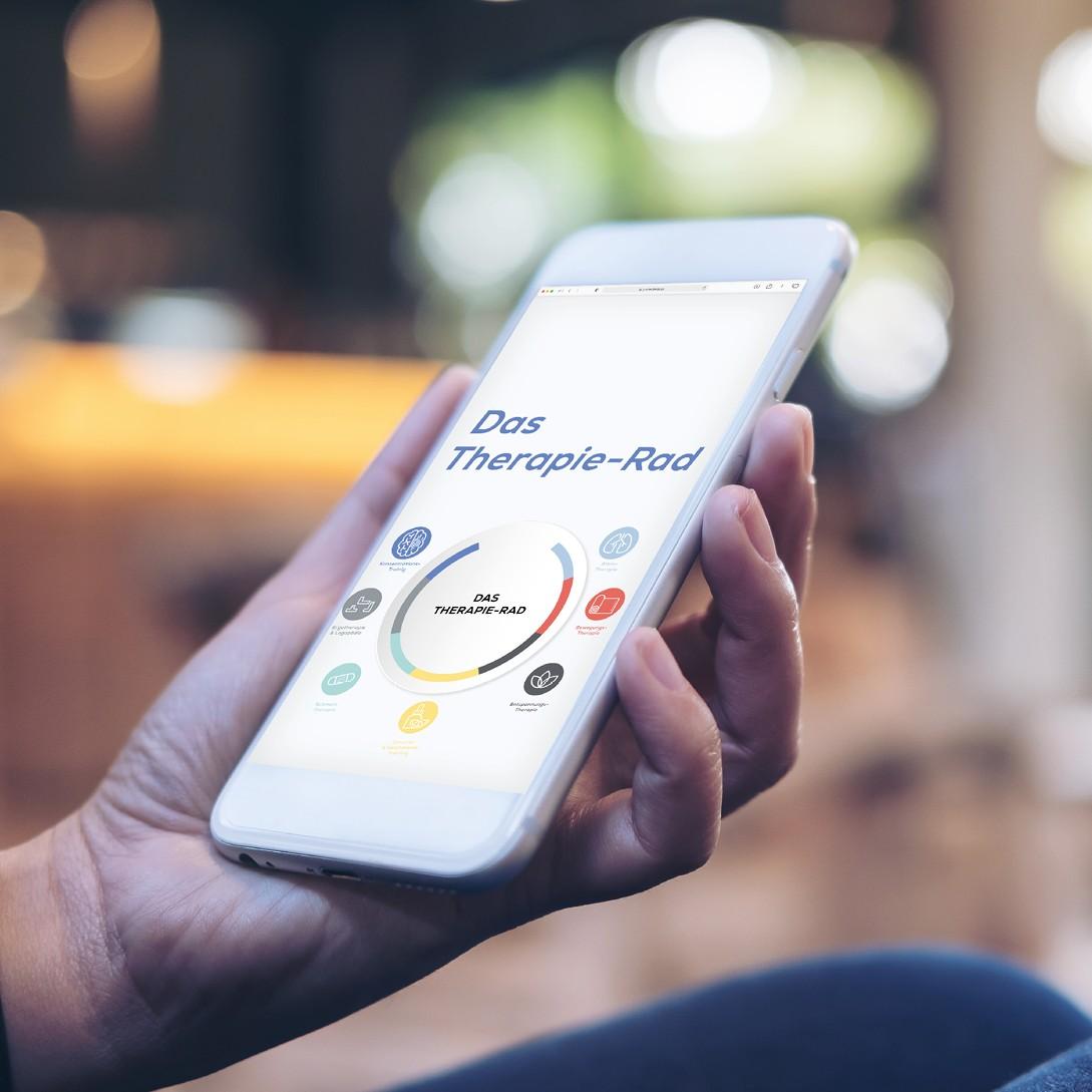 Long Covid Therapierad von paraCovid im Smartphone